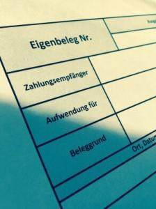 Eigenbeleg Vorlage als Excel-Tabelle.